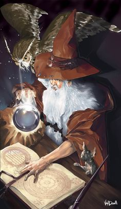 IMAGO CARDS - The Old Sorcerer by ~Vandrell on deviantART