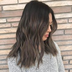 Luscious Balayage With Subtle Purple Tones - 20 Stunning Examples of Mushroom Brown Hair Color - The Trending Hairstyle Brown Hair With Blonde Highlights, Brown Hair Balayage, Hair Highlights, Purple Highlights, Ashy Hair, Hair Color Asian, Hair Color And Cut, Brown Hair Colors, Asian Brown Hair