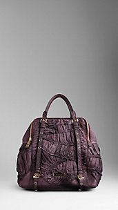Large Ruched Python Bowling Bag - Burberry!