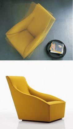 DODA #armchair by MOLTENI & C. | #design Ferruccio Laviani #yellow @Molteni&C Dada