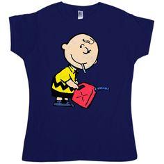 Banksy Women's T Shirt - Naughty Charlie - Navy / 12-14