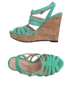 ALLISON Women's Sandals Light green 10 US
