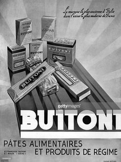 Advertising Buitoni pasta for October 1937