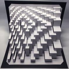 Quadroid Spiral : kirigami pop-up paper sculpture Kirigami Pop Up, Origami And Kirigami, Origami Paper Art, Folding Architecture, Aurora Glow Kit, Pitch Dark, Paper Pop, Art Deco, Best Logo Design
