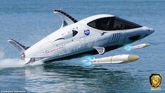 Incredible Torpedo speedboat that is part submarine, part FIGHTER JET
