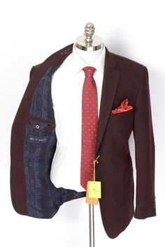 Brown & pink come together, in this Etro Milano nailhead cotton & silk sport coat!  |  Get in on this! http://www.frieschskys.com/blazers  |  #frieschskys #mensfashion #fashion #mensstyle #style #moda #menswear #dapper #stylish #MadeInItaly #Italy #couture #highfashion #designer #shopping