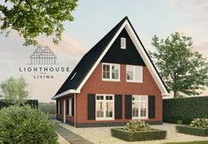 Kleine Kaap A - Lighthouse Living Roof Colors, Grand Designs, Red Bricks, Curb Appeal, Lighthouse, Cabin, Live, House Styles, Projects
