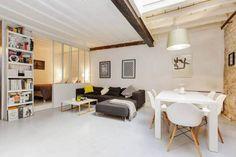 A Scandinavian mini loft in Paris.