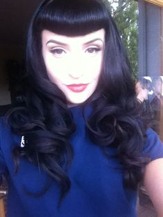 Bettie bangs, rockabilly, pinup, fifties, work