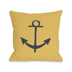 Vintage Anchor Throw Pillow #LivingRoom #Adorbs $44