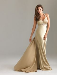 gold sweetheart dress with beading