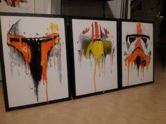 """""""These orange the droids you're looking for."""" Star Wars fan art"""
