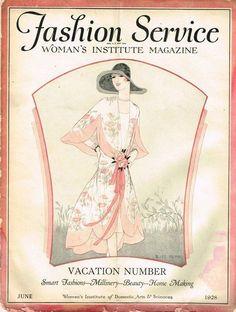 1920s Fashion Service Magazine June 1928