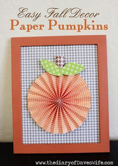 Paper Pumpkins {Easy Fall Decor}   The Diary Of DavesWife