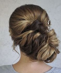Side Low Updo Wedding Hairstyle