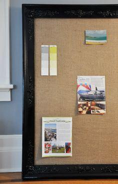 frame bulletin board