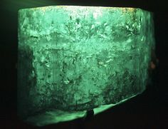 The Devonshire Emerald, named after the 6th Duke of Devonshire, its recorded value is 1,386 carats. It is a terminated hexagonal-shaped crystal. It is an exceptional deep-green emerald, with perfect transparency in certain areas, but heavily flawed in other areas. The emerald had a reputation as the largest and finest uncut emerald in existence. It now sits in a well-protected vault in the Natural History Museum in London.