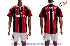 AC Milan Maillot Ibrahimovic 11 Domicile 2012-2013 FT5070 Sport Outfits a48f69cdd