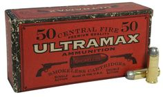 Munición .45 Long Colt moderna.   Ultramax packages their Cowboy Action ammunition in historically authentic packaging and shoots well in vintage firearms. This ammunition is new production, non-corrosive in boxer primed, reloadable brass cases.   Technical Information Caliber: 45 Colt Bullet Weight: 250 Grains Bullet Style: Lead Flat Nose Case Type: Brass   Ballistics Information:  Muzzle Velocity: 730 fps Muzzle Energy: 296 ft lbs