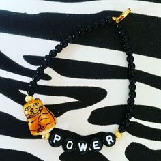 Girl power = #🐱power 👊🏽💥new #pussypower alphabet charm glass bead bracelets 👊🏼💥 #danalevy #newcollection