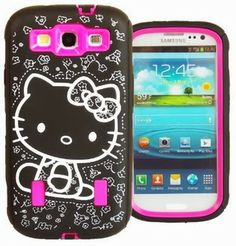Hello Kitty Hybrid Case for Samsung Galaxy S3. The case fits the form of the s3 beautifully, very cute and offers good impact protection. it offers a built-in clear sceen protector as well as an additional clear screen protector and the stylus is a additionally.