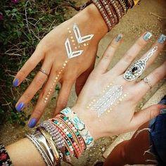Flash Tattoos. Bracelets. Boho  www.livewildbefree.com Cruelty Free Lifestyle & Beauty Blog. Twitter & Instagram @livewild_befree