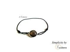 #koubera #accessoire de mode #bijoux #bracelet #pierre #quartz fume #argent #simplicity #mode #femme #2015
