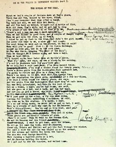 """The first page of The Waste Land manuscript, when the poem was titled """"He Do the Police in Different Voices."""" (The Waste Land: A Facsimile and Transcript of the Original Drafts, ed. Valerie Eliot [New York: Harcourt Brace Jovanovich, 1971])"""