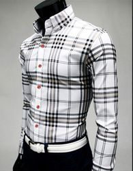 http://rubies.work/1010-citrine/ Slim Plaid Shirt Casual Male 100 ...