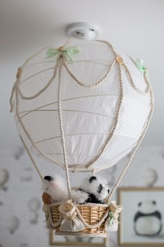 Nothing could be cuter than a hot air balloon in the nursery!