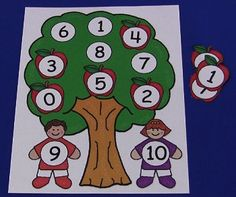 Apple Tree Number Match Mats