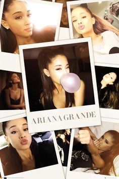 Ariana Grande Selfies Colour - Official Poster
