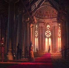 fantasy concept throne room castle aigner rene