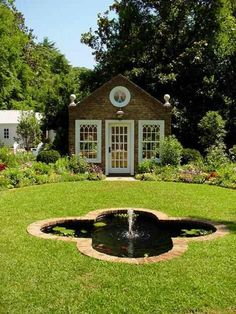 In-ground fountain idea....I've actually seen where ppl buy a fountain n place it in the ground so it looks like the photo above....pretty wicked idea I think!~