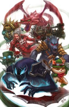 This is a picture from a game called League of Legends. It is one of the largest games in E-Sports at the moment and I hope to get to work on it after i Graduate. I watch tournaments of it frequently and for me, is my favorite sport. I used to play it around 5-10 hours per week. E-Sports are becoming more and more popular as time passes.