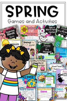 First Grade Games and Activites to Do at Home Spelling Activities, Phonics Worksheets, Writing Activities, Spelling Words, Cvc Words, Activity Centers, Literacy Centers, First Grade Games, Reading Games