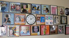 Love these scrapbook pages in frames for display
