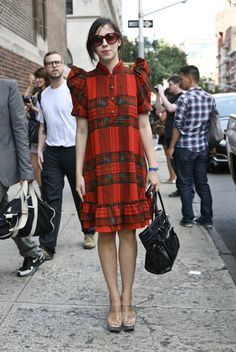 Red Plaid Marc by Marc Jacobs Dress