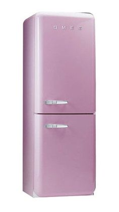 pink fridge from smeg