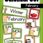 Calendar Cards Set - February  This packet includes: Month card: February Season card: Winter Days of the Week: Sunday - Saturday Number Cards (4 s...
