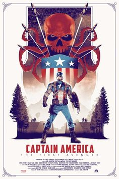 """geekynerfherder: """"Grey Matter Art will be unveiling 3 new exclusive Marvel prints at this year's New York Comic-Con. 'Captain America: The First Avenger' by Matt Ferguson, is a x screenprint in three editions; a regular edition on Mohawk soft. Poster Marvel, Marvel Movie Posters, Avengers Poster, Movie Poster Art, Marvel Movies, Ms Marvel, Marvel Art, Marvel Heroes, Captain Marvel"""
