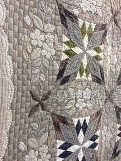 A beautiful example of a Japanese taupe quilt