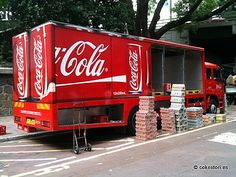 Coca-Cola delivery truck in Kowloon, Hong Kong