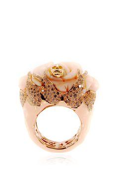 Rose Skull Ring by Bibi van der Velden for Preorder on Moda Operandi
