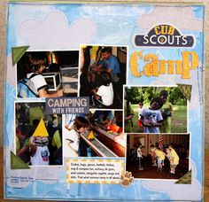 Cub Scout Camp - Scrapbook.com