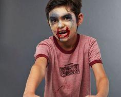 maquillage zombie halloween enfant garcon
