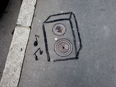 streetart   oakoak   drole d'egout musicaux
