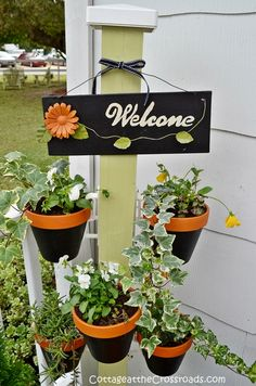 A pretty way to welcome visitors to your home in fall. Plus, it can be changed for all seasons!