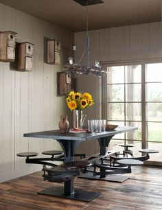 Rustic Dining Room by Carter Kay Interiors