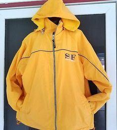 San Francisco Coat Jacket Medium Lined With Hood Golden Gate Bridge Andys Sports